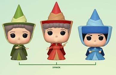 Funko Pop Disney 3-Pack Sleeping Beauty ECCC