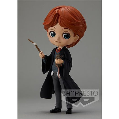 Q Posket Harry Potter - Ron Weasley with Scabbers 14 cm