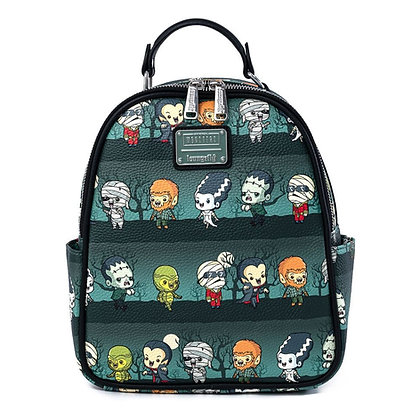 Loungefly Universal Monsters Backpack Chibi AOP