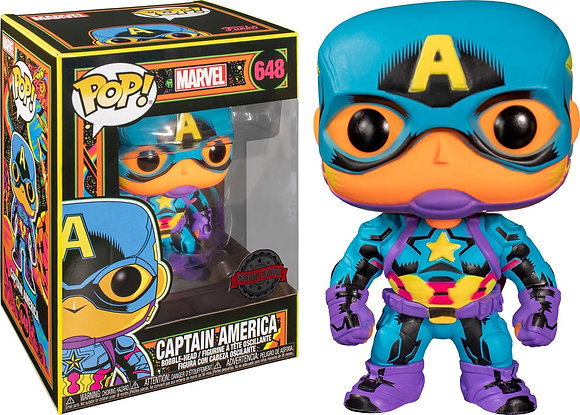 Funko Pop Marvel Black Light - Captain America