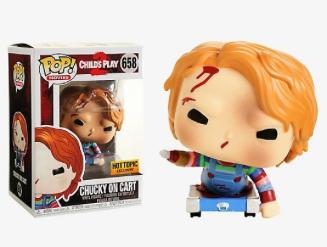 Funko Pop - Movie - Chucky on cart Hot Topic Exc.