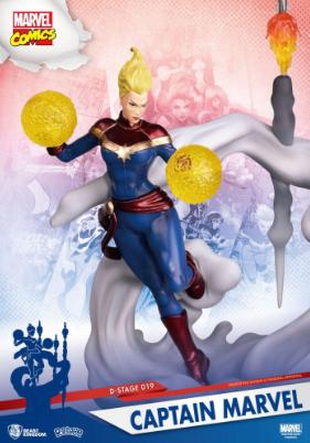 Statue - Marvel Comics D-Stage PVC Diorama Captain Marvel 16 cm