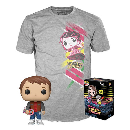 Funko Back to the Future POP! & Tee Box Marty Exclusive