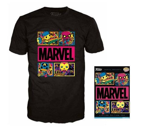 Funko Boxed Tee - T-shirt Marvel Black Light Limited Edition