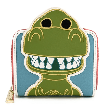 Loungefly x Disney pop! pixar 25th Anniversary Rex zip around wallet