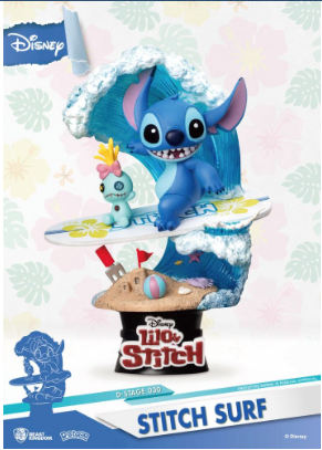 Statue - Disney Summer Series D-Stage PVC Diorama Stitch Surf 15 cm