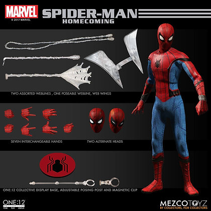Action Figure - Marvel -Spider-Man Homecoming 1/12 Spider-Man 16 cm