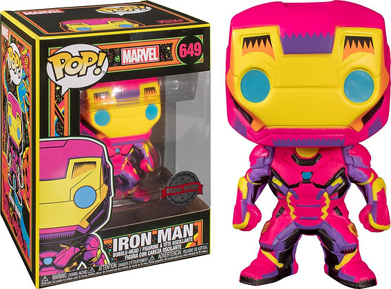 Funko Pop Marvel Black Light - Iron Man
