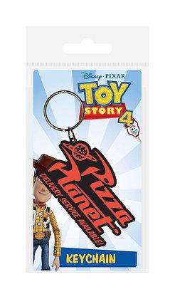 Portachiavi Toy Story 4 Rubber Keychain Pizza Planet 6 cm