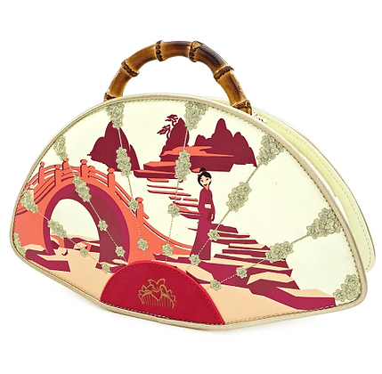 Loungefly X Disney Mulan Bamboo handle fan Handbag