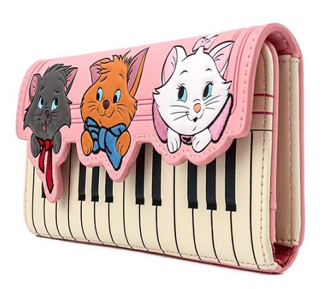 Loungefly X Disney Aristocats Piano Kitties Trifold Wallet