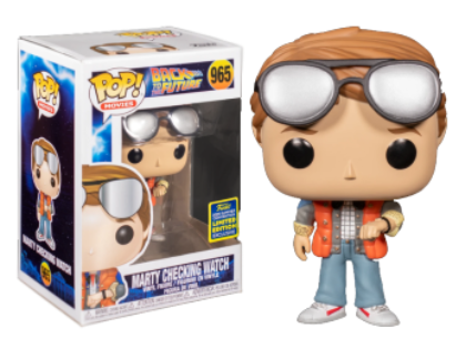 Funko Pop SDCC 2020 Marty McFly Checking Watch (Bollino Shared)