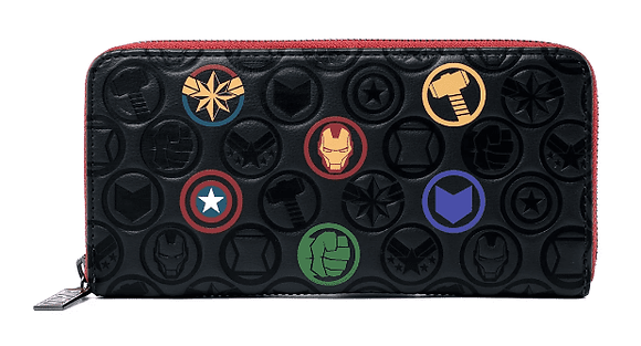 Loungefly X Marvel -  Marvel Icons Zip around Wallet