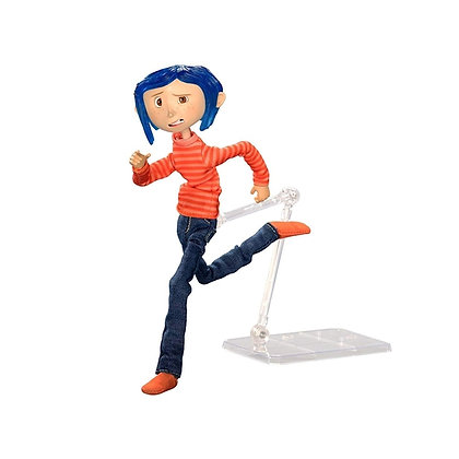 Action Figure - Coraline Articulated Figure Coraline in Striped Shirt and Jeans