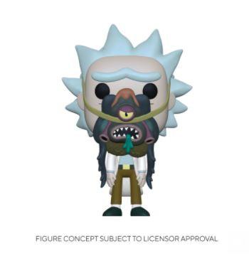 Funko Pop Rick & Morty - Rick w/ Glorzo