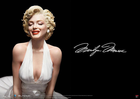 Marilyn Monroe Superb Scale Hybrid Statue 1/4  46cm (Paga in 10 Rate Mensili)