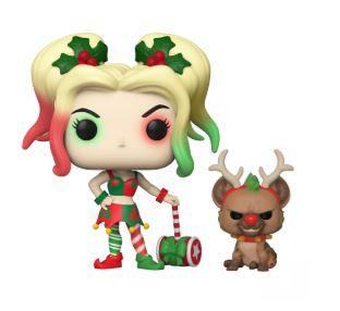 Funko Pop DC Holiday - Harley Quinn w/Helper