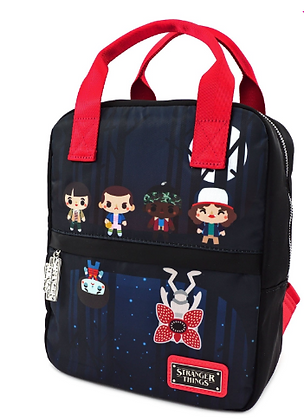 Loungefly - Stranger Things Poly Nylon square Chibi Backpack
