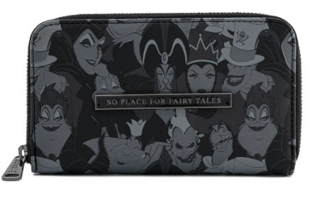 Loungefly X Disney villains dark black and grey wallet