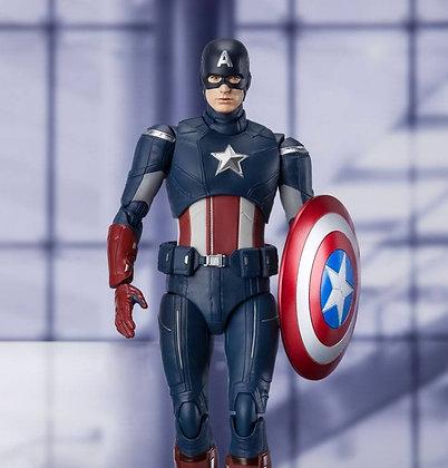 Avengers Endgame S.H. Figuarts Action Figure Captain America Cap VS. Cap Edition