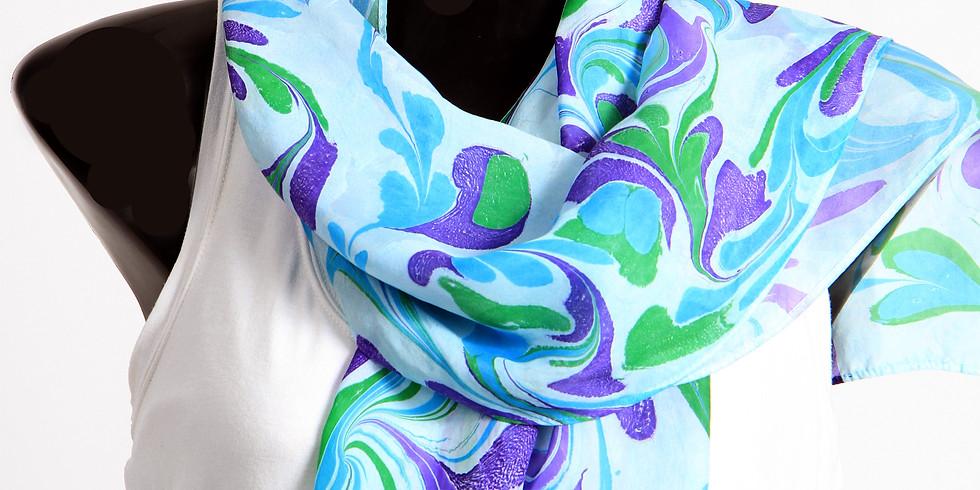 On-Line Marbleized Silk Scarf Sale