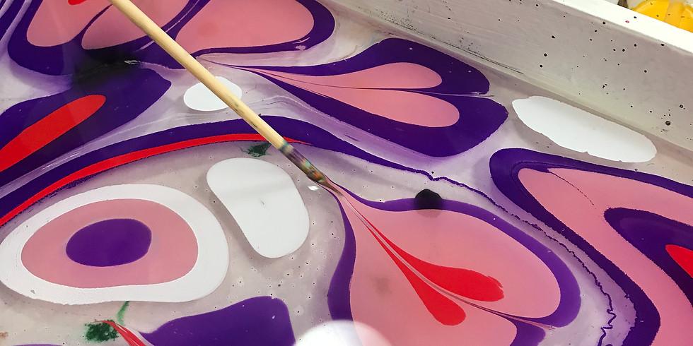 Silk Scarf & Paper Marbling - pop up shop
