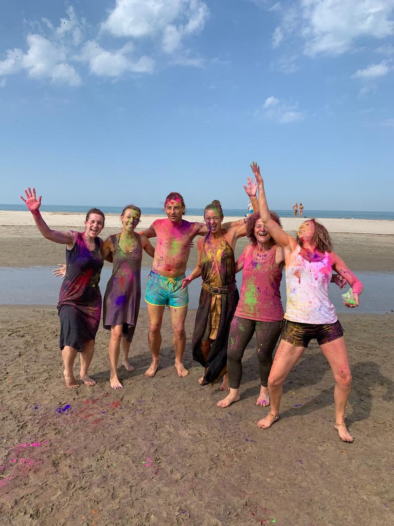 Holi Shakes on the Beach