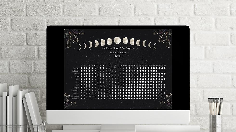 Southern Hemisphere Drk Moon Calendar