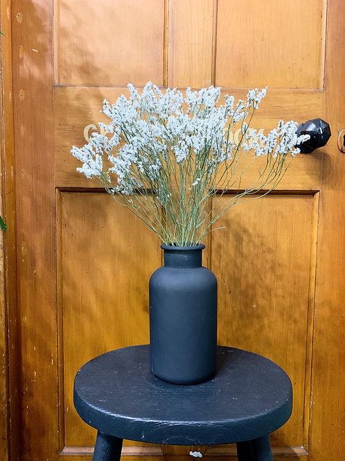 Black Matt Vase with Dried Bunch