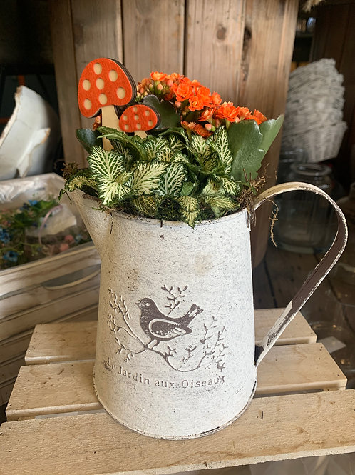 Autumn Zinc Jug