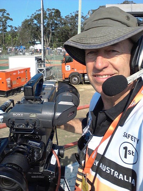 Stadium cameraman duty