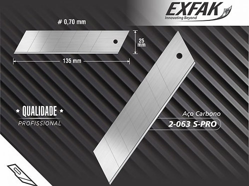 LÂMINA ESTILETE EXTRA GRANDE 25mm