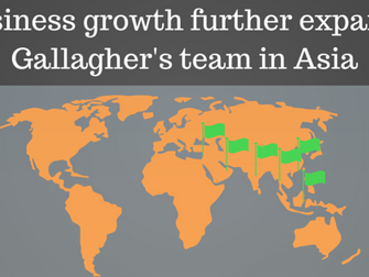 Business growth further expands Gallagher's team in Asia