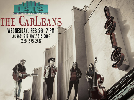 CarLeans at the Isis Music Hall, Asheville NC
