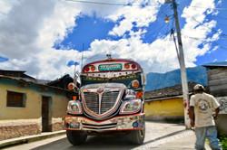 guatemala chicken bus in nebaj