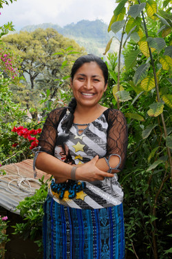 portrait of a young Ixil weaver