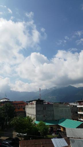 Panoramic view of Nebaj and its surrounding mountains, part of the Cuchumatanes range