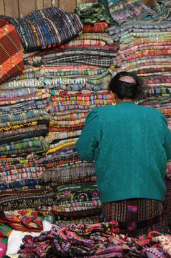 piles of textiles, chichicastenango