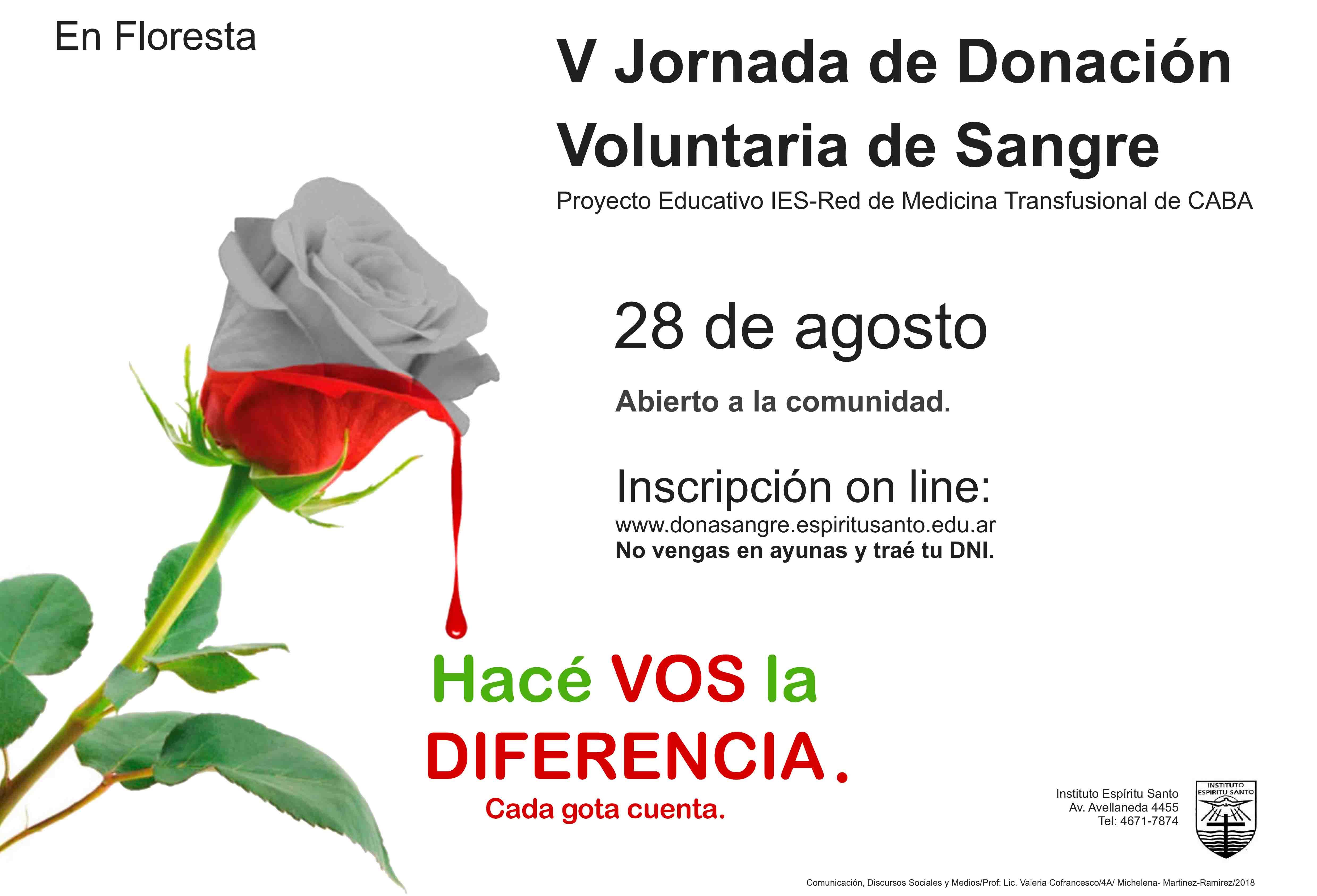 Jornada de Donación de Sangre V
