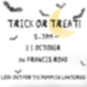 Trick or Treat on Francis Rd 31 Oct 2019