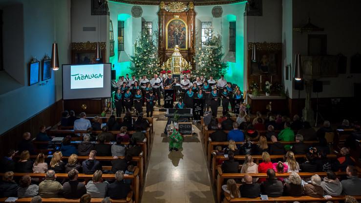 Blick von oben auf den Chor und unser wu