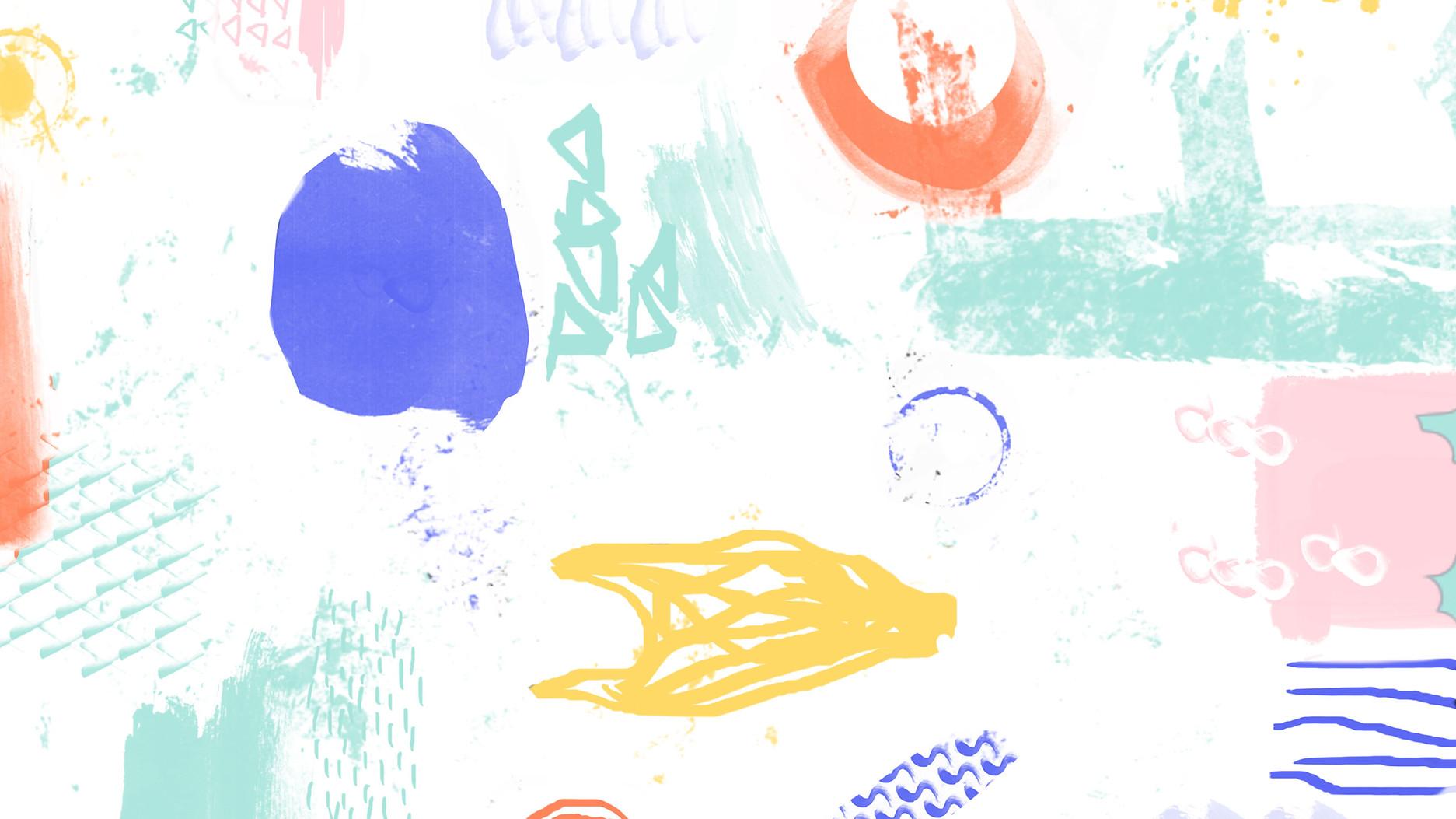 Красочный шаблон