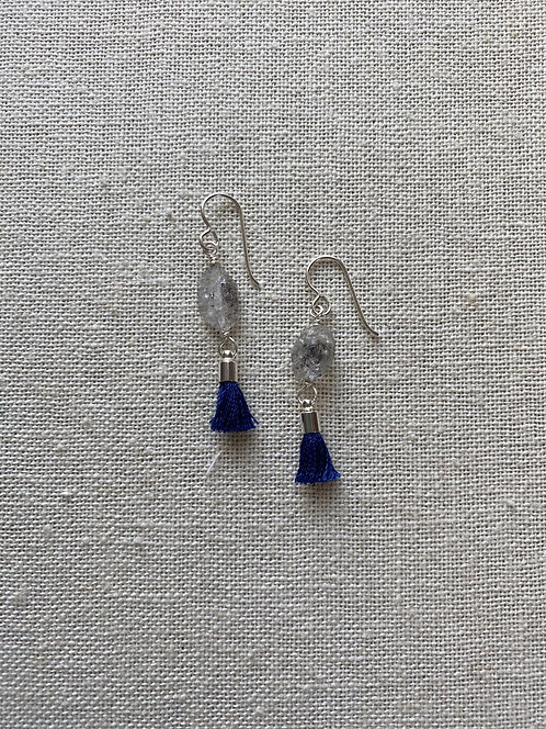 Herkimer Diamonds | Mini Blue Tassels