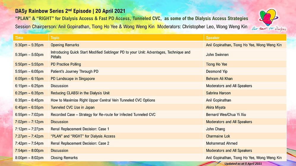 Rainbow Series 2nd Episode Programme 202