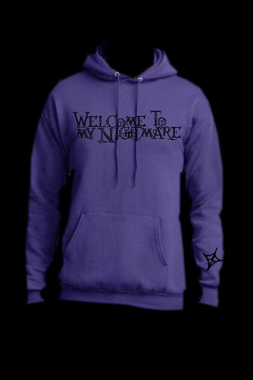 Welcome To My Nightmare hoodie- Purple/Black