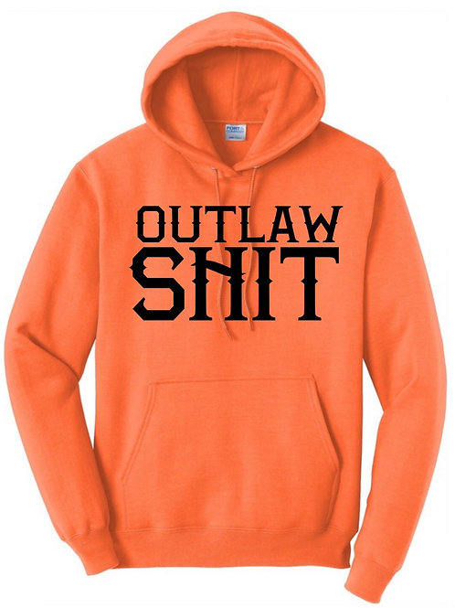 Outlaw shit- hoodie (Orange)