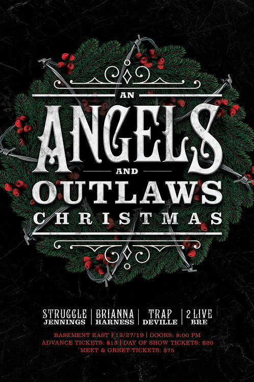 Angels and Outlaws Christmas- Nashville 2019 Poster
