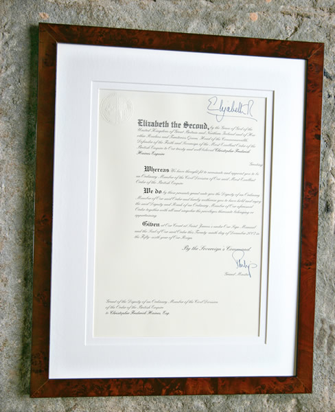 Mbe certificate