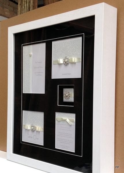 Wedding stationary set side view