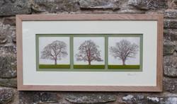 Enamel Triptych of Trees